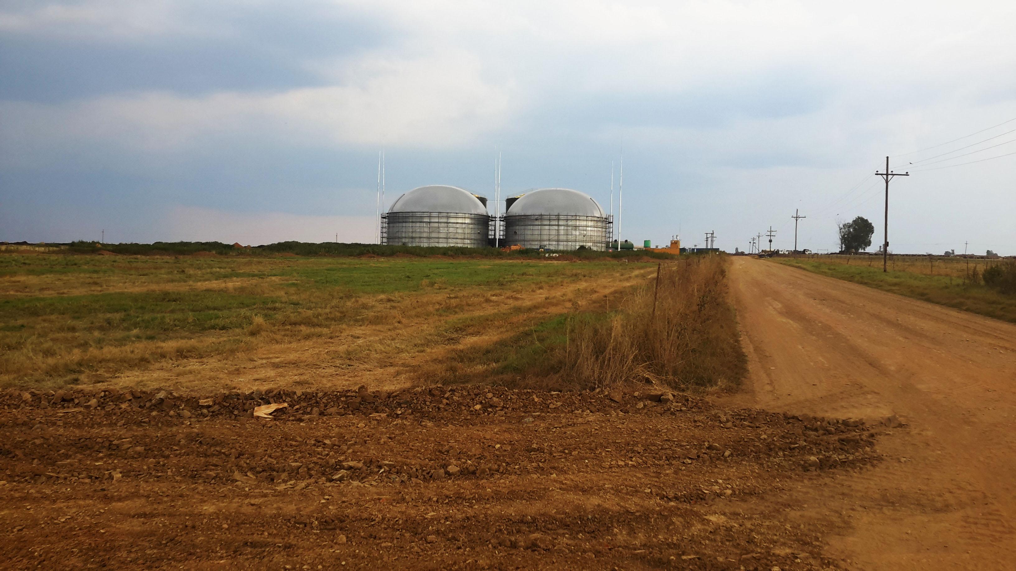 Biogaslager i Afrika