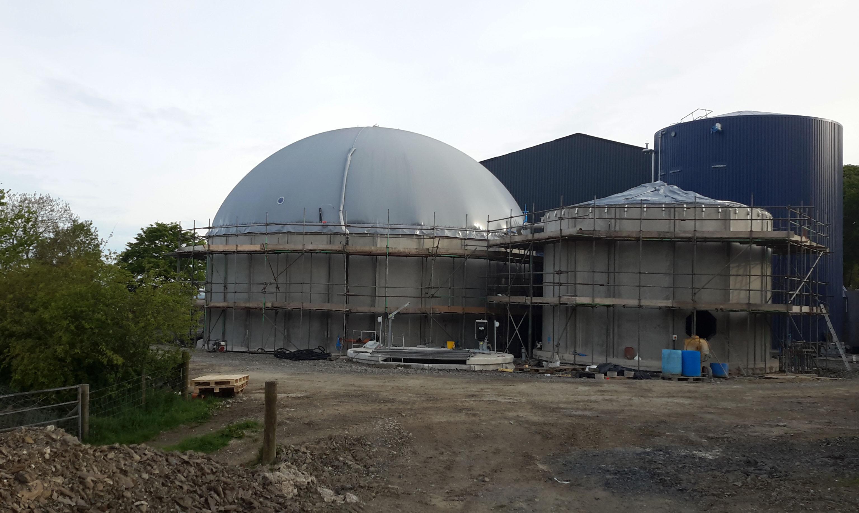 Biogaslager i England Cornwall