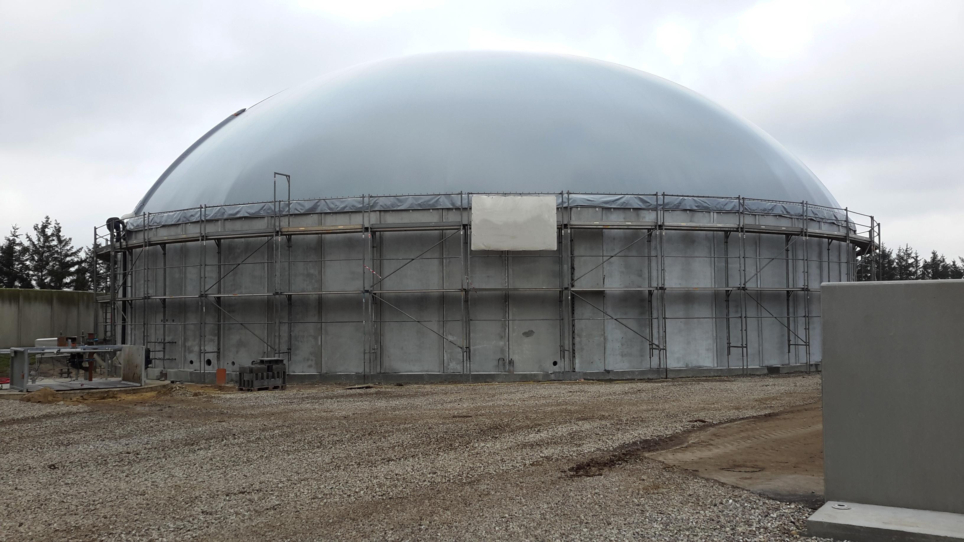 Biogaslager i Hemmet på Gundesbølvej