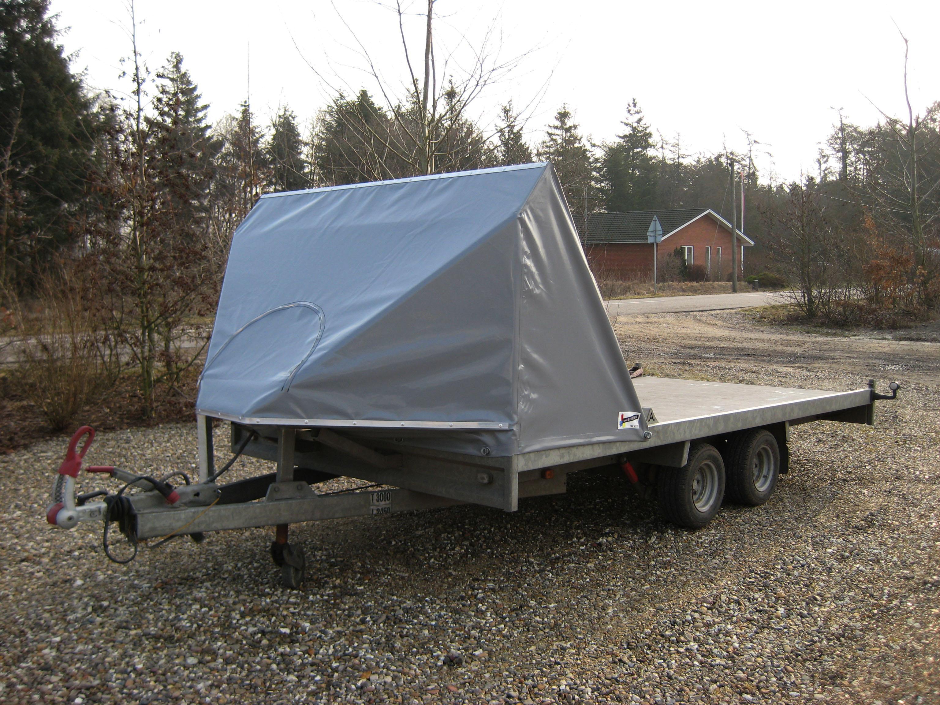 Flad trailer foran