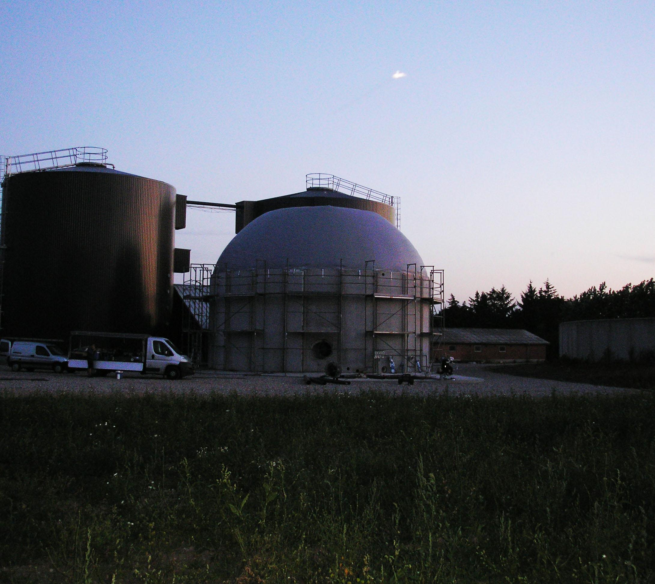 Hemmet biogas kuppel