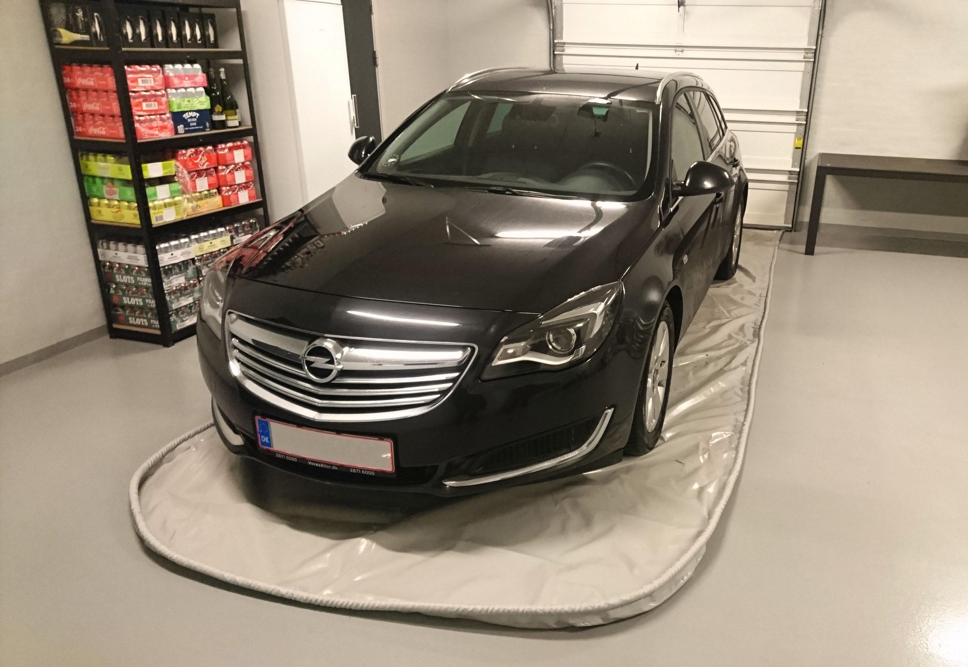 Spildunderlag - Opel stationcar