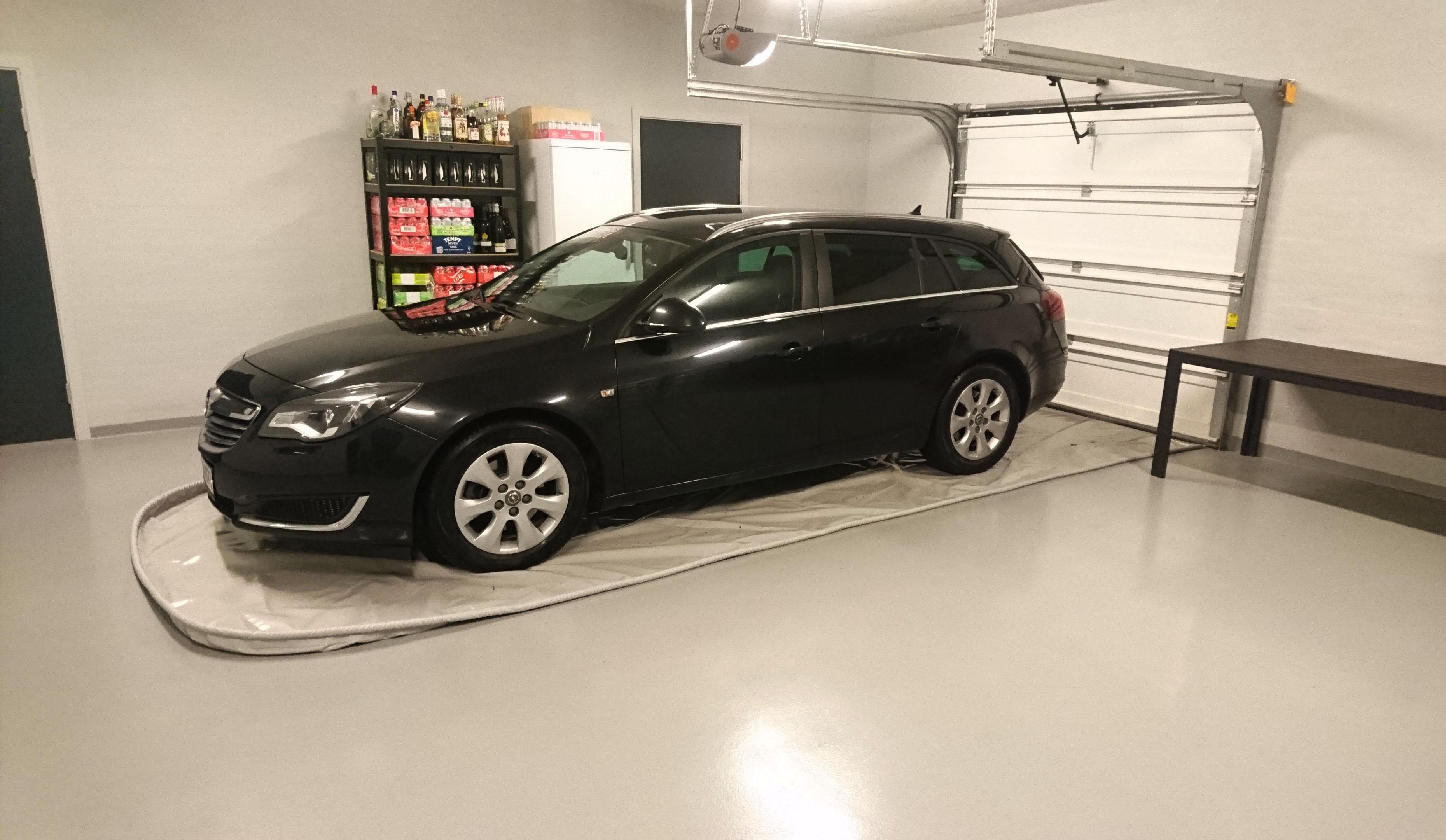 Spildunderlag til Opel stationcar