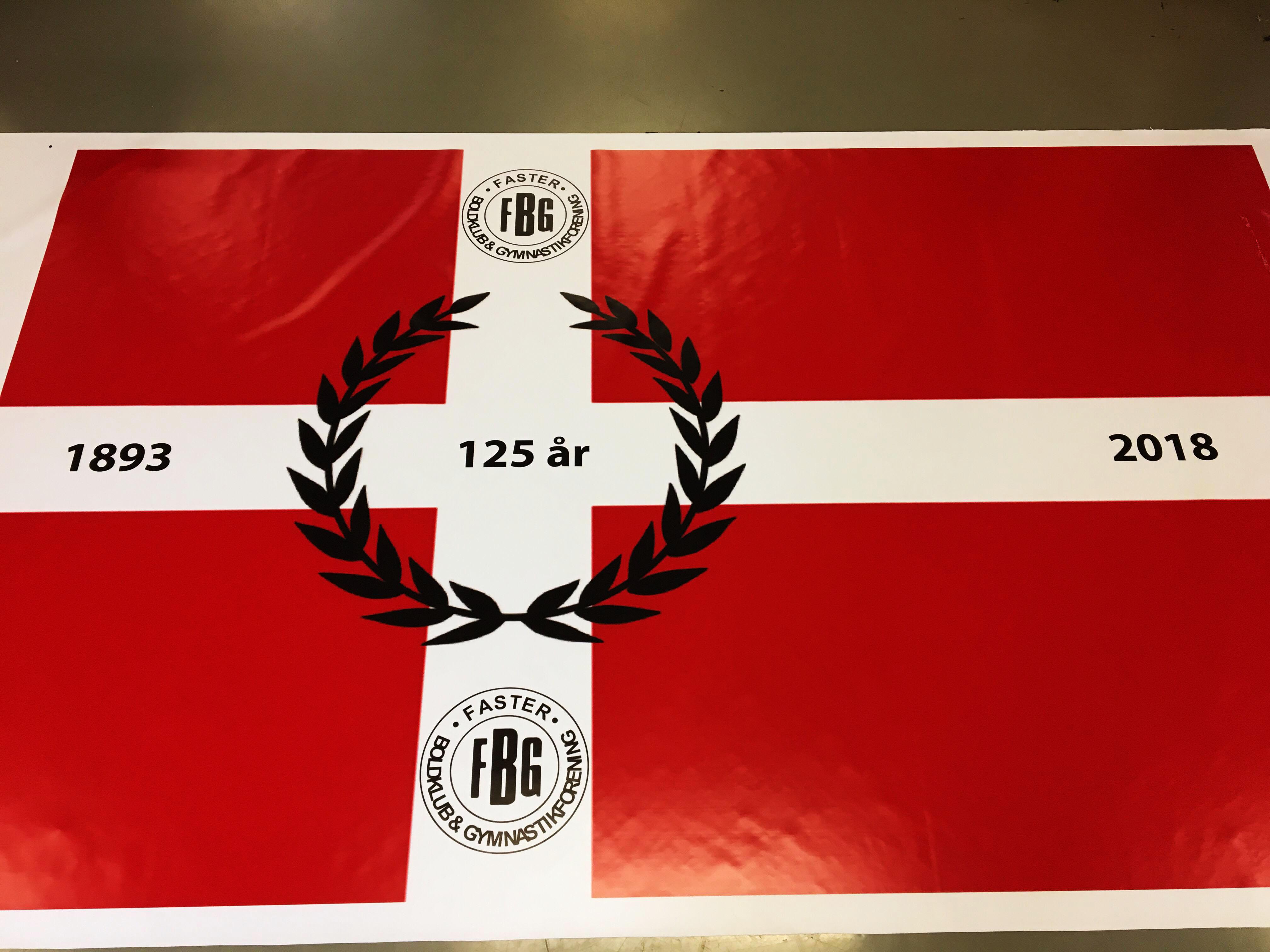 Sportsflag til Faster Boldklub og Gymnastikforening