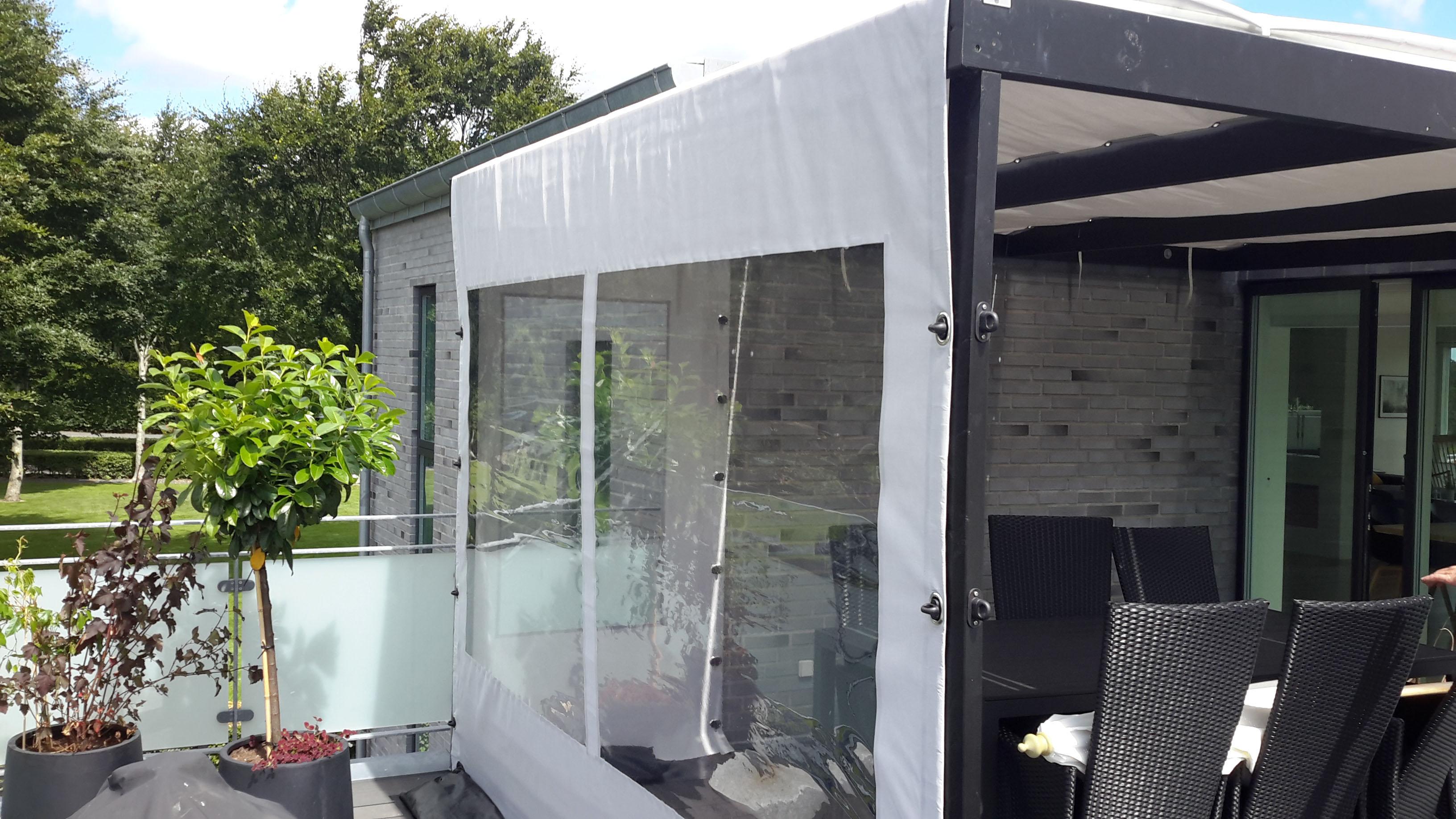 Terrasseoverdækning - fra siden