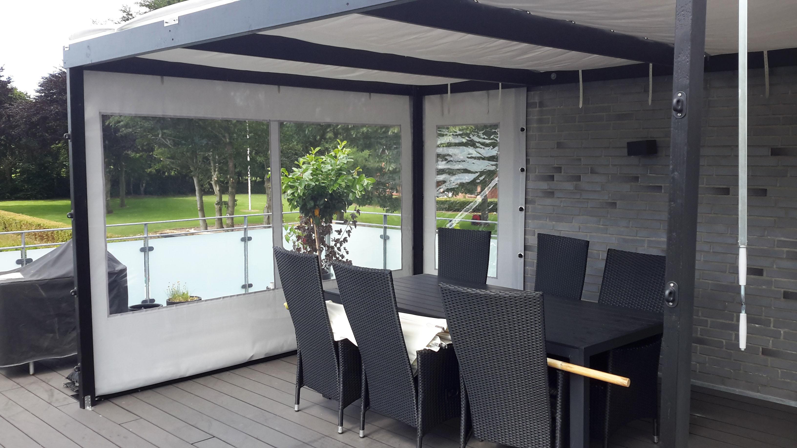 Terrasseoverdækning - på terrassen