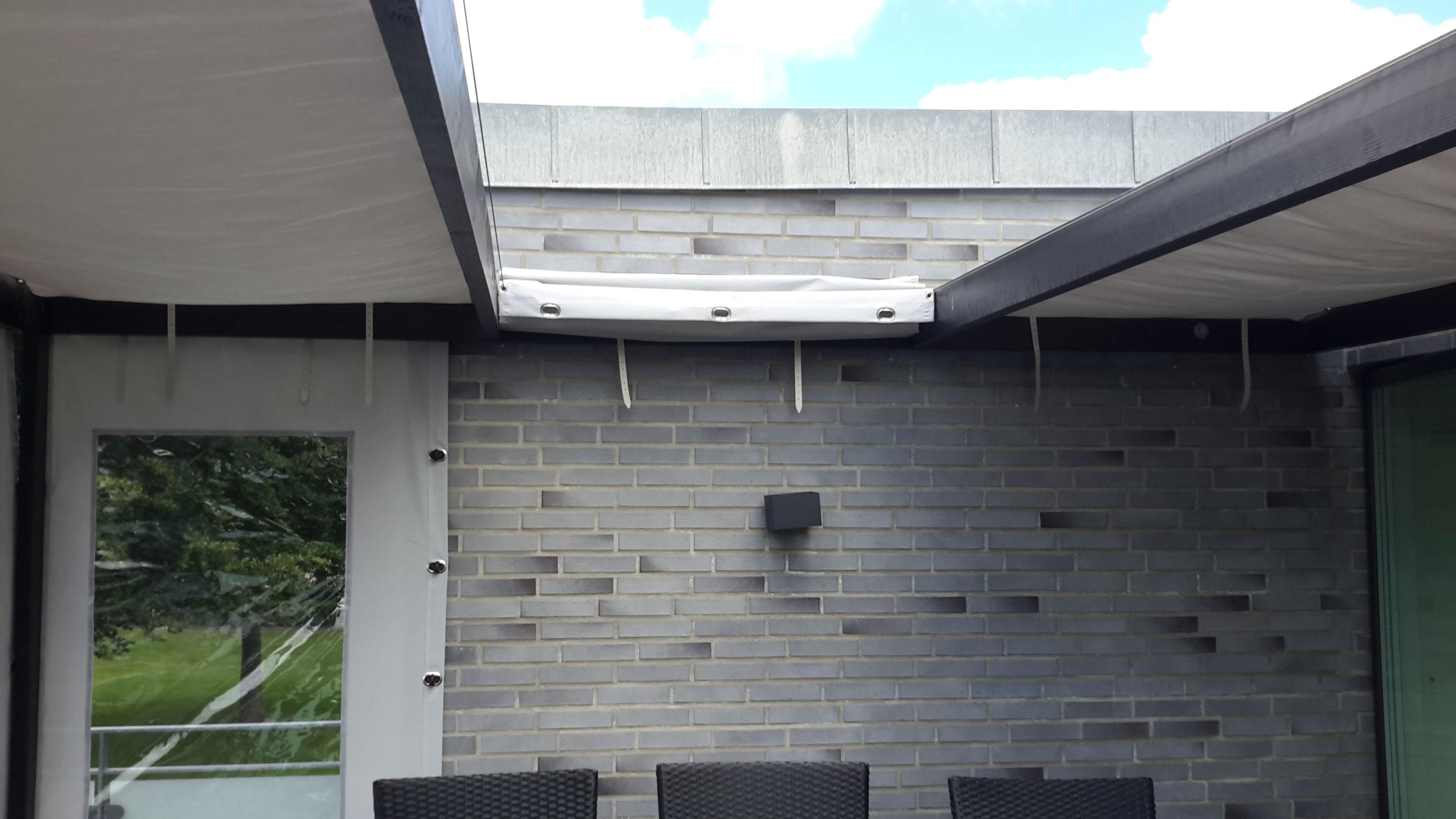 Terrasseoverdækning - taget til siden